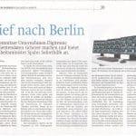 Brief nach Berlin