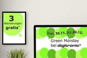 Angebot zum Green Monday