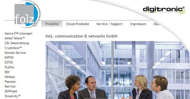 Grafik folz. communication & networks GmbH